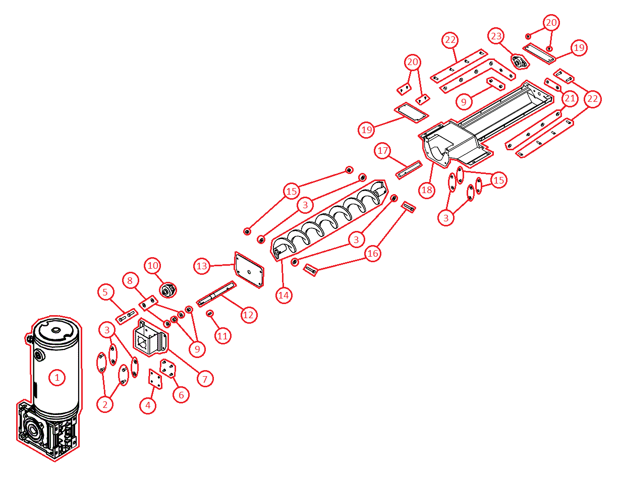 BOSS VBX3000 Auger Assembly Diagram