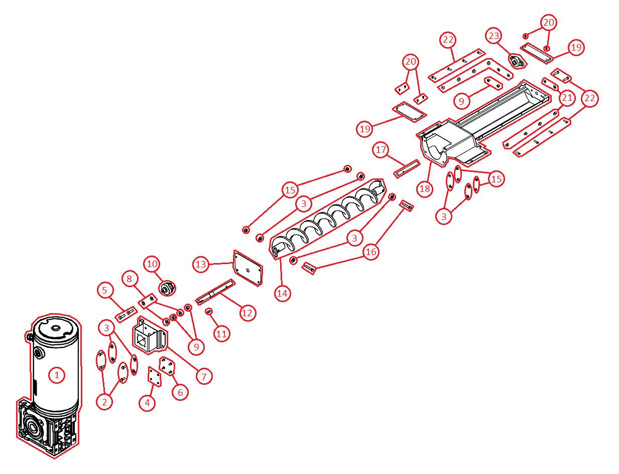 Vbx3000 Boss Spreader Diagrams Shop Sander Wiring Diagram Auger Assembly