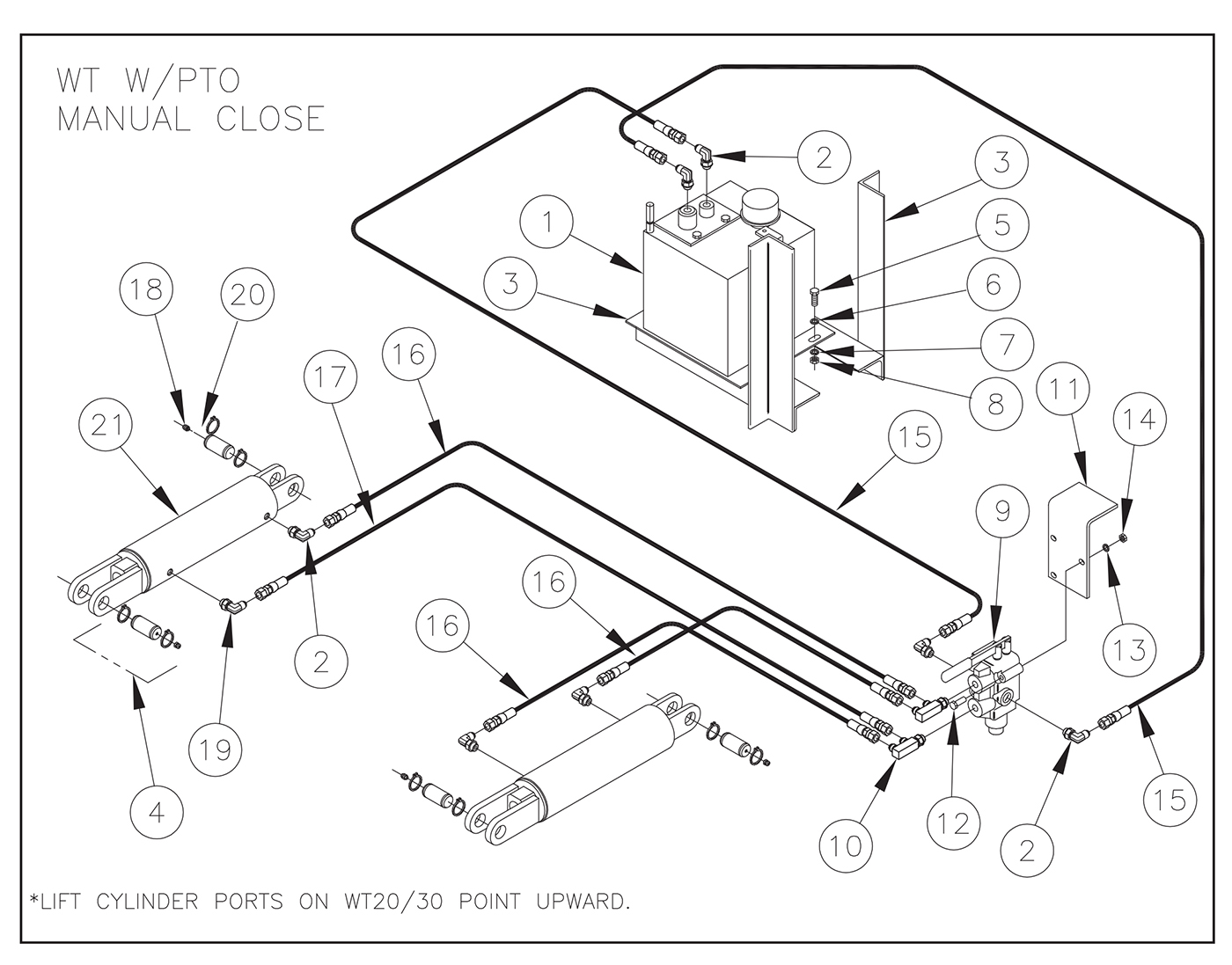 Thieman Liftgate Diagrams  30  40 Pto Pump Assembly